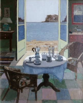 Late breakfast, acrylic on board, Gallery price £1250 20x16in